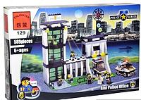 Конструктор Brick 129 457831 Полицейский участок, 589 дет, в разобр. кор 41*28*6 см