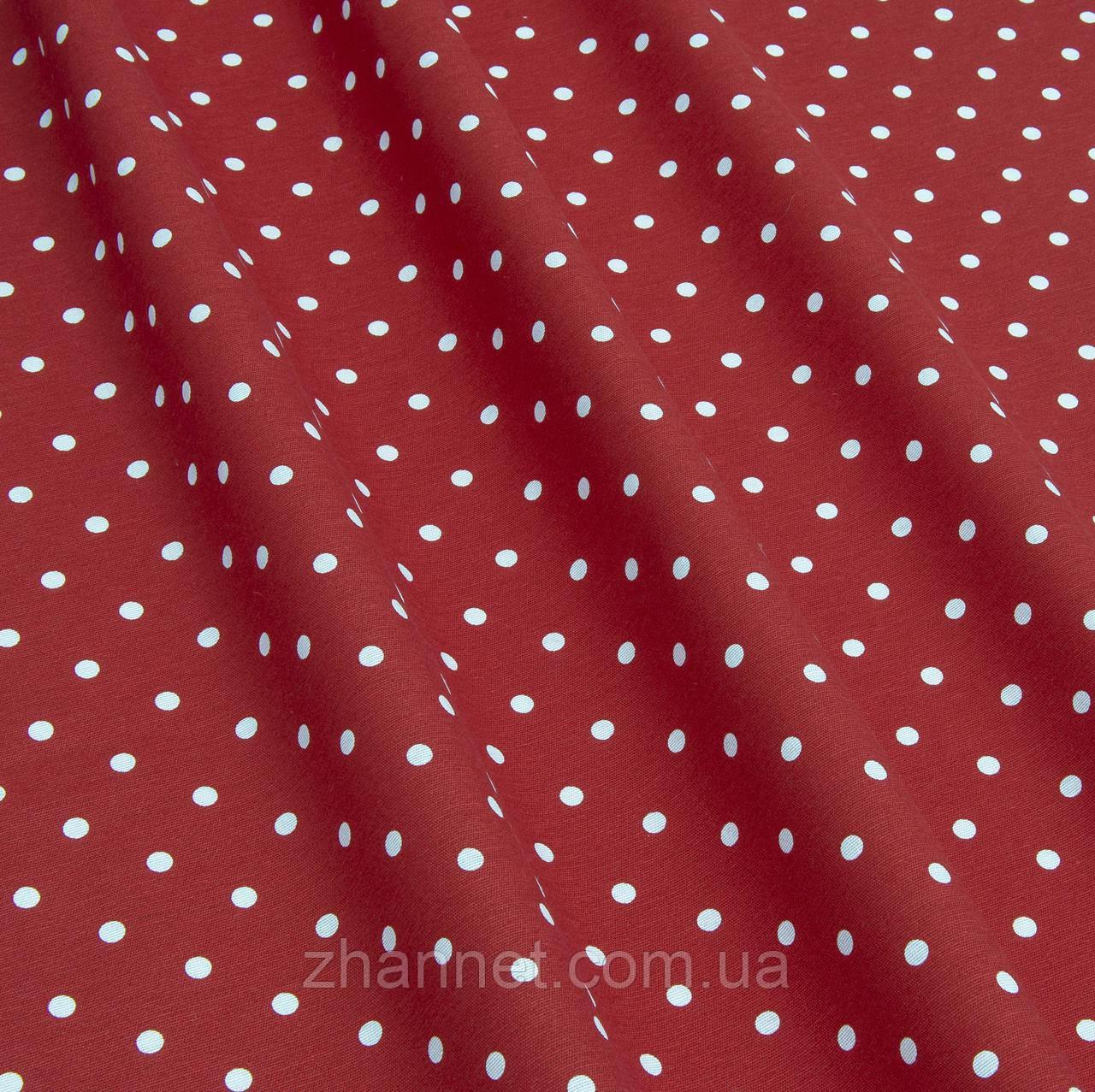 Ткань Sevilla горох красный фон