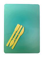 Досточка для лепки + стеки Да, Украина, Доска для пластилина, Зеленый