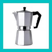Гейзер кофеварка UNIQUE UN-1913 (KP1-9) алюминий!Акция