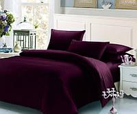 Баклажановый комплект постельного белья 145х210 BOSTON Jefferson Sateen