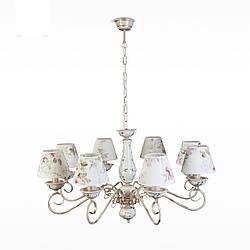 Люстра 8-ми ламповая классическая для большой комнаты 10607-1