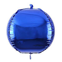 "Шар Cфера 3D. Цвет: Синий. Размер: 20""(50см)."
