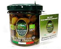 Органические оливки Таджаске, в рассоле с косточками, Frantoio di Sant'agata, 150 гр