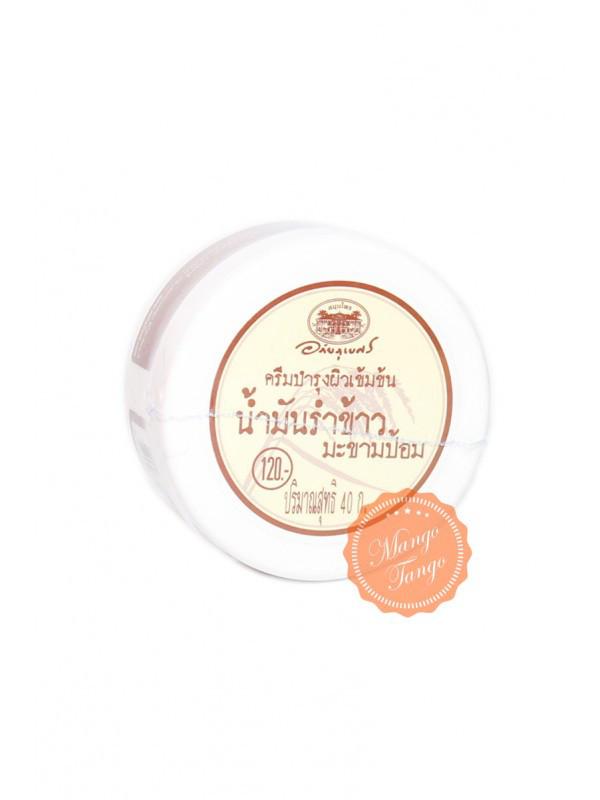 Інтенсивний крем з маслом рисових висівок і эмбликой Abhai Rice Bran & Makam Pom Intensive Skin Cream, 40 г