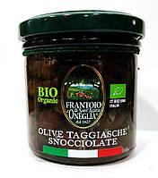 Органические оливки Таджаске, в рассоле без косточек, Frantoio di Sant'agata, 150 гр