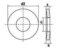Шайба DIN 6796 — шайба пружинная тарельчатая.
