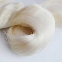 Волосы для кукол из натурального шелка, Натуральный Белый, Япония