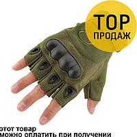 Тактические беспалые перчатки Oakley цвет Оливковый