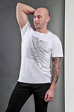 Мужская футболка, коттон, р-р S-M(44-46); L-XL(48-50) (белый)