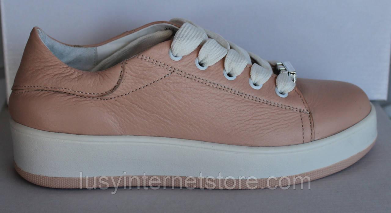 7128049c4 Слипоны кожаные женские пудра, кожаные женские слипоны от производителя  модель НП753-6 - Lusy
