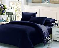 Синий комплект постельного белья семейный 145х210х2 BOSTON Jefferson Sateen