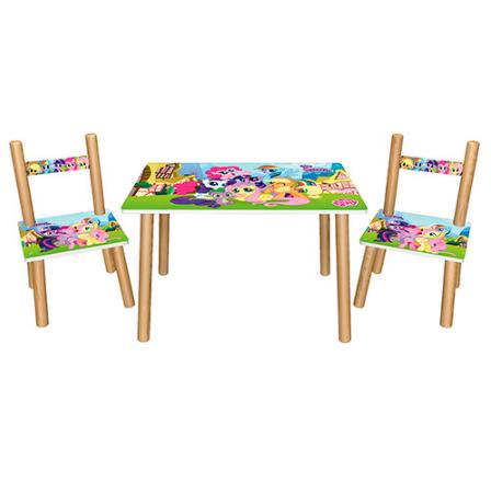 Деревянный столик со стульчиками  501-26 Литл Пони ***