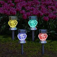 Декоративный Садовый светильник на солнечной батарее CAB91 (CAB129) RGB Solar
