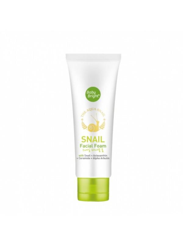 Пенка для умывания с муцином улитки Baby Bright Snail Facial Foam, 50 г
