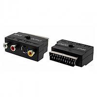 Переходник SH3007, Scart-3RCA/S-Video с переключателем in/out, Переходник-адаптер