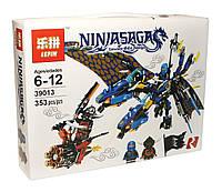 Конструктор Lepin Ниндзяго (Синий дракон Джея), 353 детали (39013) коробке 28х21х6 см