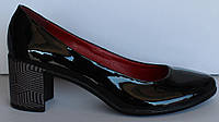 Женские туфли лаковые на каблуке, женские туфли от производителя модель НП516э, фото 1