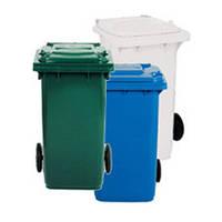 Контейнер для мусора пластиковый 120 л Белый