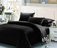 Черный комплект постельного белья семейный 145х210х2 BOSTON Jefferson Sateen
