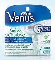 Gillette Venus Embrace Sensitive - Сменные кассеты 4 шт (в/уп) Original