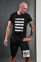 Мужские шорты, турецкая двунитка, р-р S-M(44-46); L-XL(48-50) (чёрный)