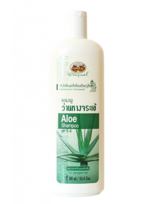 Шампунь с соком алоэ для сухих и повреждённых волос Abhai Aloe Shampoo pH5-6 For Damaged Hair, 300 г