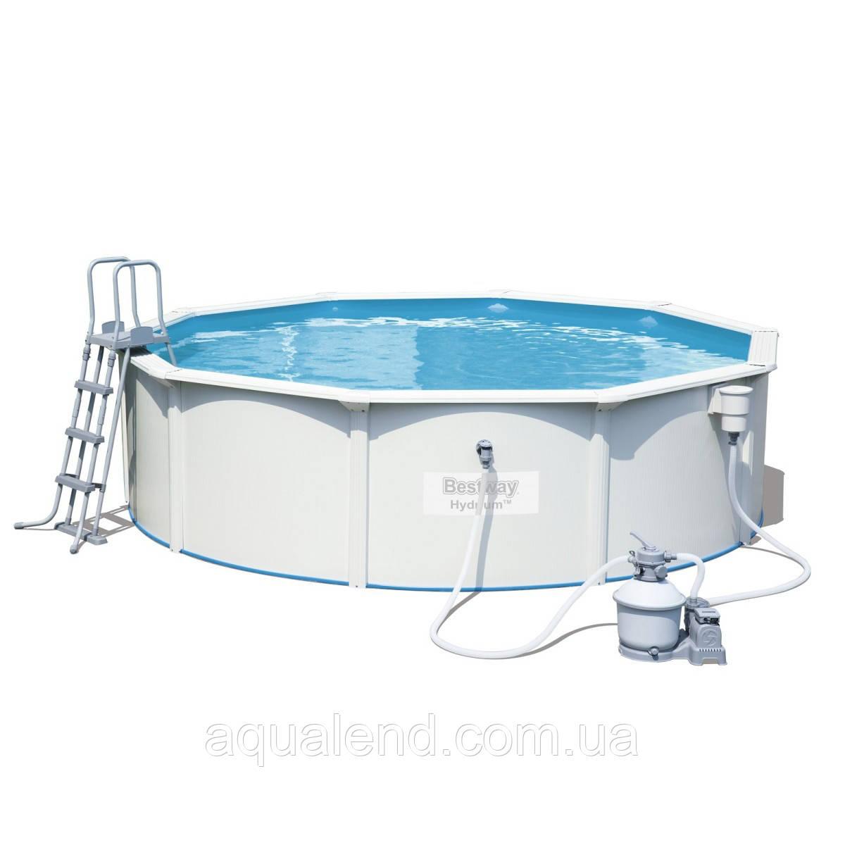 Збірний басейн Bestway Hydrium 56384 (460x120) з пісочний фільтром