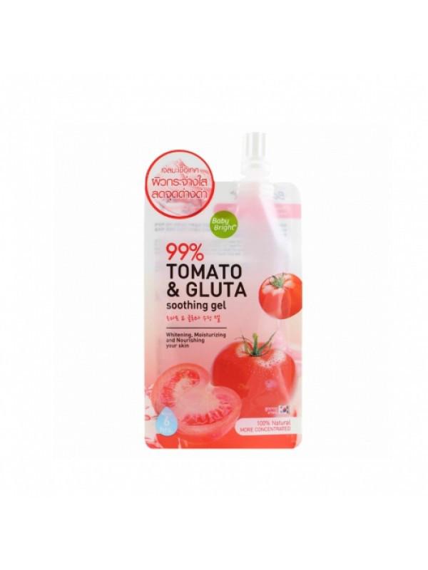 Увлажняющий и отбеливающий гель экстрактом томата Baby Bright Tomato & Gluta Gel, 50 г