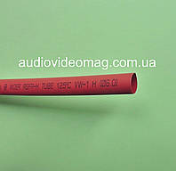 Термоусадочная трубка (2:1) - 6.0/3.0 мм, 1 метр, красная