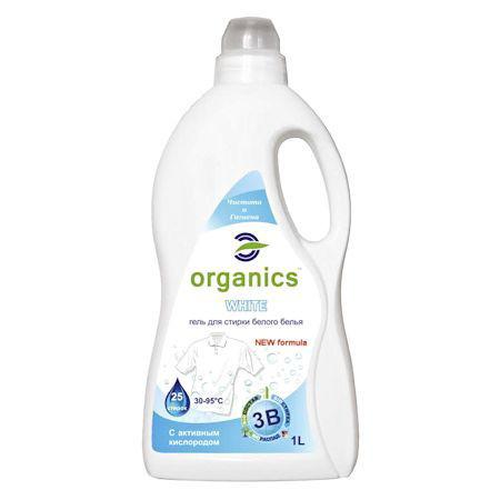 Гель для стирки белого белья Organics 1 л.