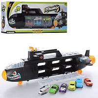 Подводная лодка-гараж P864-A , с набором транспорта Автотрек