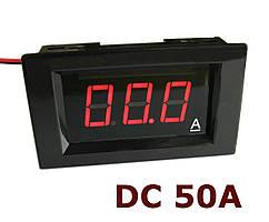 Амперметр постоянного тока до 50А DC цифровой встраиваемый A85DC Красный