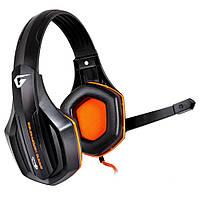 Наушники с микрофоном (игровая гарнитура) Gemix W-330 Gaming Black/Orange, 2 x Mini jack (3.5 мм), накладные
