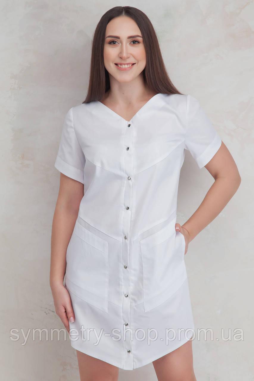 H006 Медицинский халат, белый