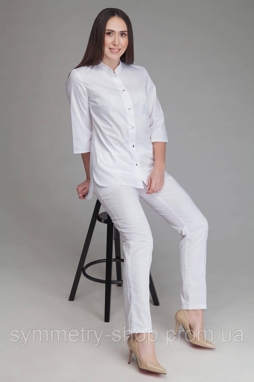 Костюм белый 0401 (длинные брюки)