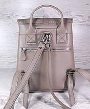 123 Натуральная кожа Городской рюкзак бежевый Кожаный рюкзак Из натуральной кожи Рюкзак женский пудра рюкзак, фото 3