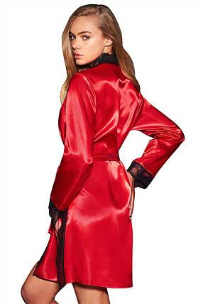 Халат с кружевом красный, фото 2