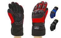 Мотоперчатки теплые текстильные с закрытыми пальцами PRO BIKER  (протектор-металл, р-р M, L, XL, цвета , фото 1