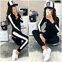 Женский стильный спортивный костюм брюки и кофта с логотипом, фото 1
