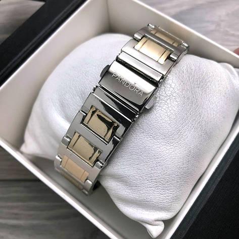 """Часы женские, наручные, золотые + серебро """"Pandora"""", аксессуары женские, повседневные, магазин часов, фото 2"""