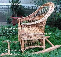 Плетеное кресло-качалка, фото 1