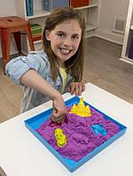 Кинетический песок Supergum 1 кг с двумя формочками фиолетовый (1005-1)