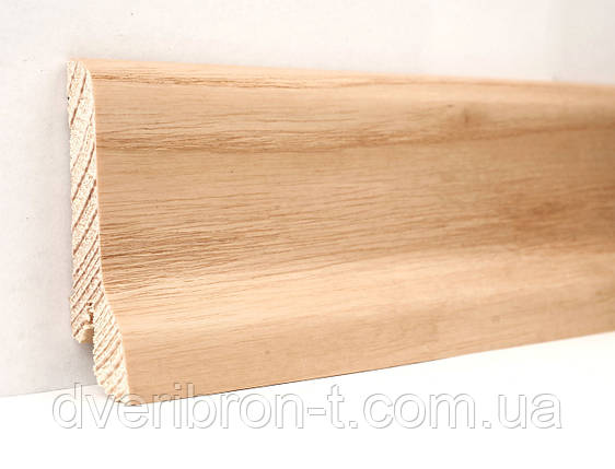 Плинтус Ключук Ясень натуральный 21*60*2400 мм профиль классика, фото 2