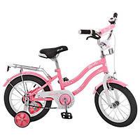 Детский двухколесный велосипед 14 дюймов, Star  розовый (L1491)