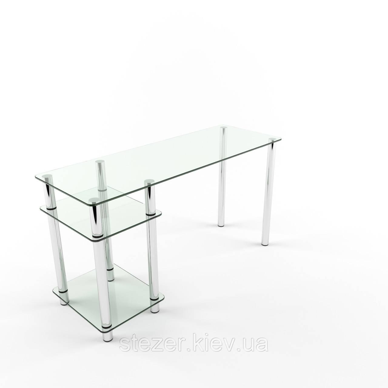 Компьютерный стол из прозрачного стекла Симпле