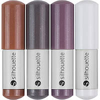 Ручки в плоттер Silhouette Sketch Pens 4/Pkg Natural: Brown, Dark Brown, Gray, White