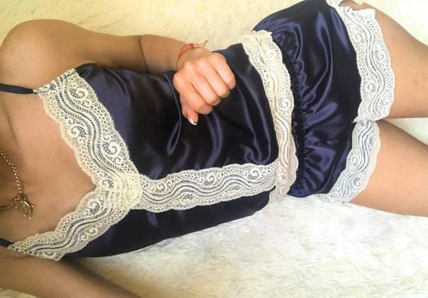 """Атласный женский комплект для сна """"SOFIA"""" с кружевом, фото 2"""