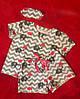 """Байковый женский комплект для сна """"MI-MI"""" с шортами и маской (3 цвета), фото 5"""
