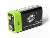 USB аккумуляторная батарея 9В Lipo S19 znter 400mah